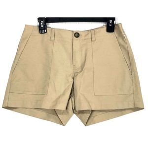 Nordstrom Signature beige patch pocket shorts 8334